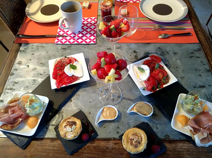 Petit déjeuner - Mas-de-Longuefeuille