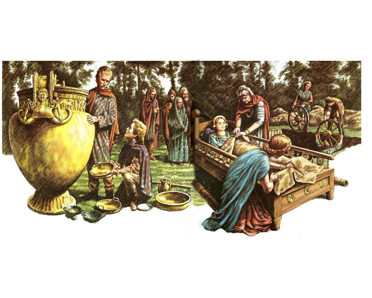 Begräbnis einer Prinzessin - Die Kelten begruben ihre Toten mit ihrer ganzen Habe für die Reise ins andere Leben