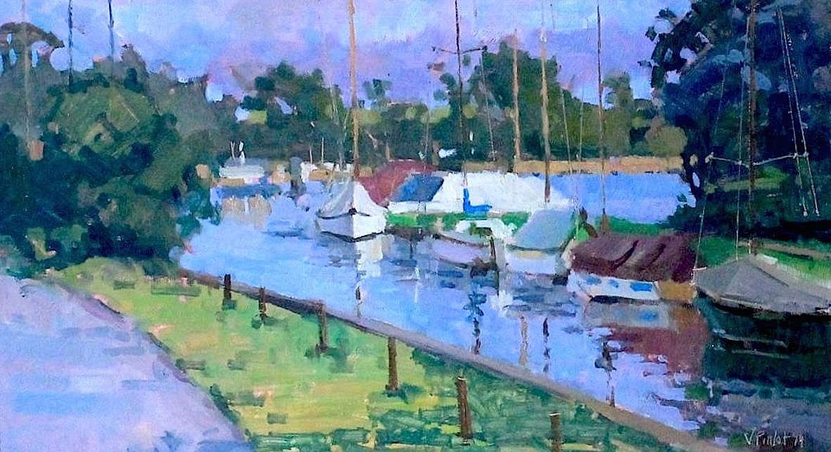 Hickling Morning Light- Valerie Pirlot Oil Painting