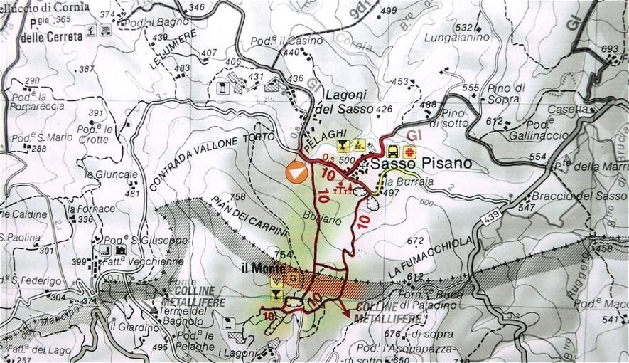 """Wanderweg """"Le terre fumanti"""" - Wanderweg durch die geothermischen Felder"""
