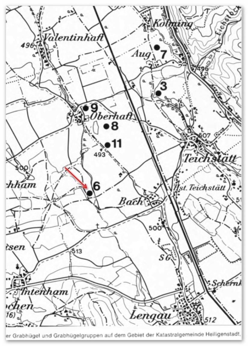 Fundstelle 2 - Tumulireste westlich von Teichstätt