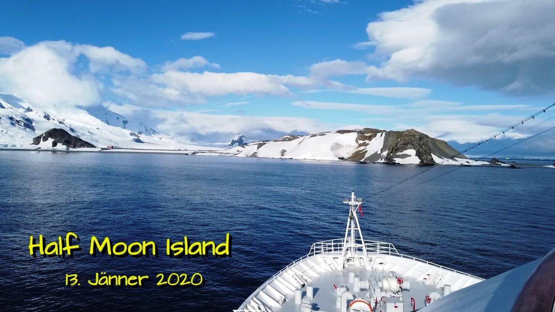 Erster Blick auf die Insel