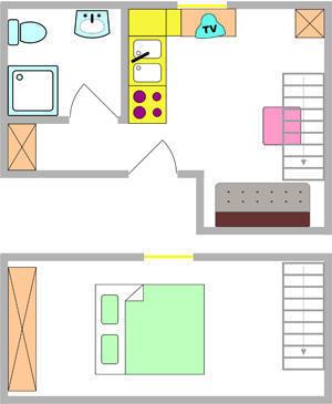 Tloris apartma 1