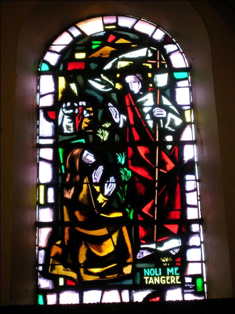 RELIGION: Marie Madeleine agenouillée  devant le Christ juste après sa résurrection