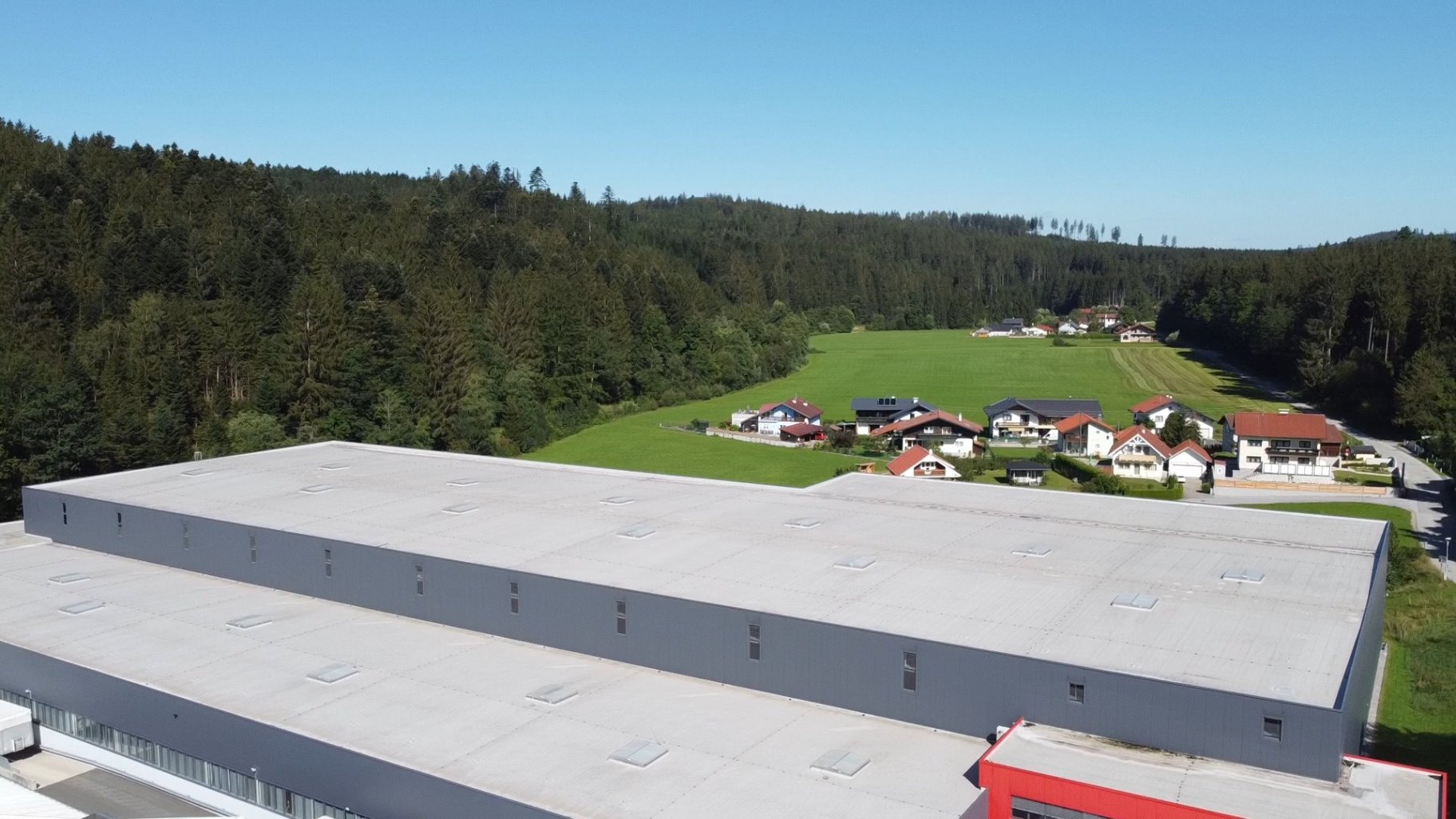 Blick über RIEDEL-Logistikzentrum