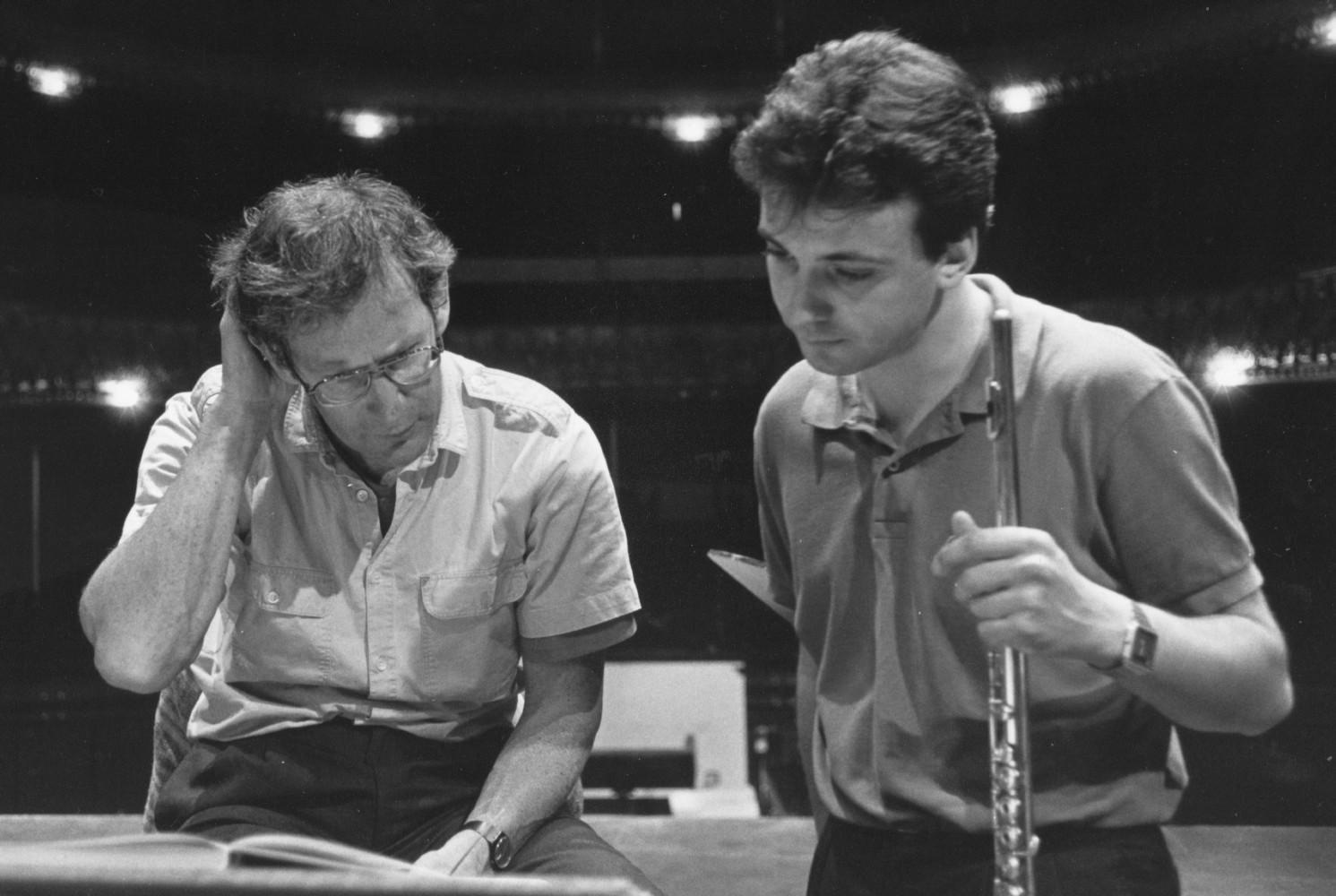 With John Eliot Gardiner (Opéra de Lyon 1985) Photo Gérard Amsellem