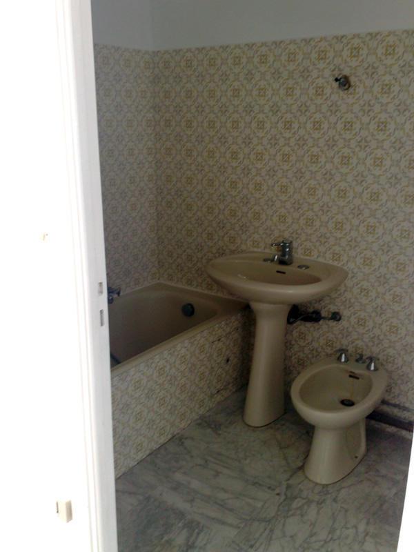 Salle de bain en béton ciré - Avant