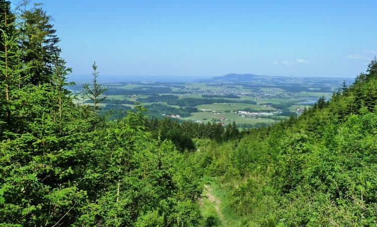 Blick über Seekirchen hinüber zum Haunsberg