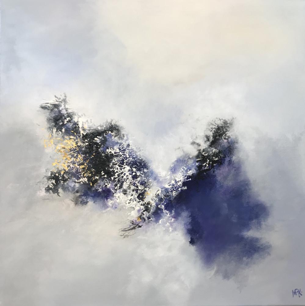 """Dérive Bleu III"" - H80x80 cm - Acrylic on canvas -"