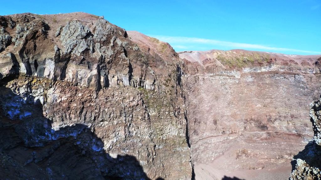 Die Mitte des Kraterrandes