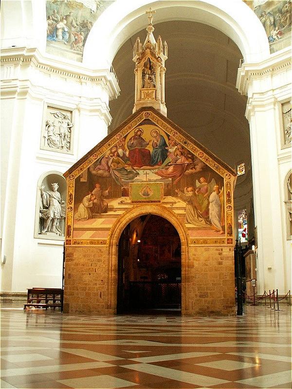 Assisi - Santa Maria degli Angeli - Portiuncula Am 3. Oktober 1226 verstarb in dieser kleinen Kirche Francesco Bernardone (= Franz von Assisi ) im Kreis seiner Gefährten