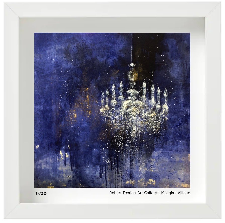 Chandelier Limited edition 120 Prints - 21x21 cm - box framed 25x25 cm High quality gloss paper