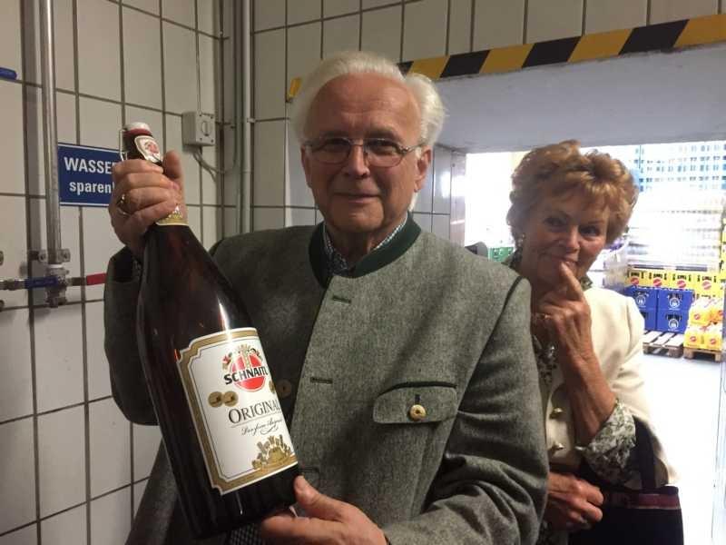 Nicht nur das Bier ist ein Original, Josef und seine Frau Helga ebenfalls.