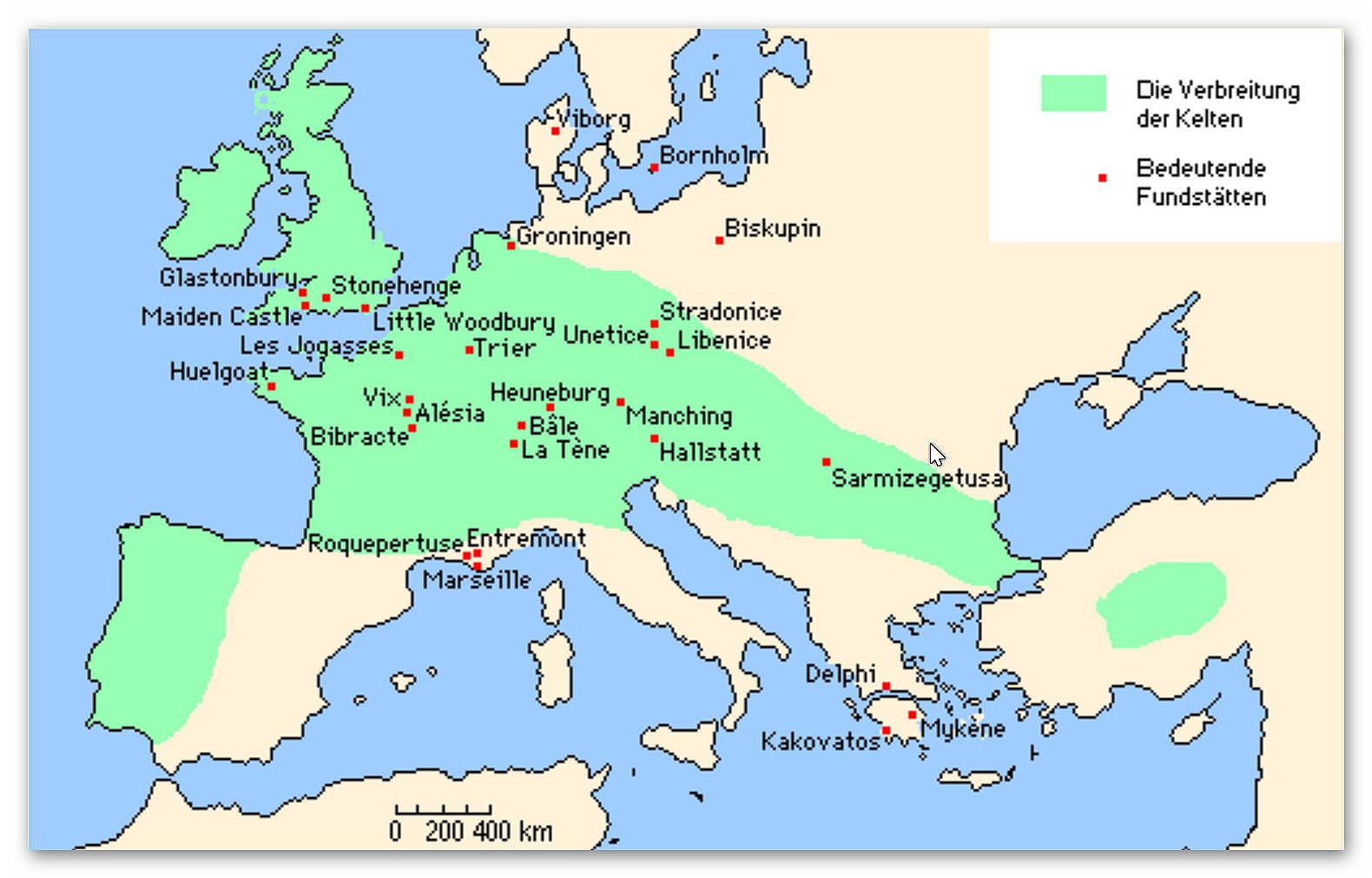 Verbreitung der Kelten