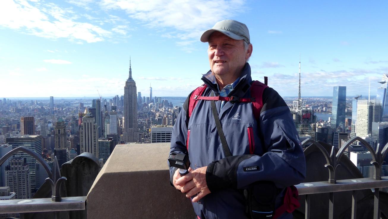 Vor dem Empire State Building