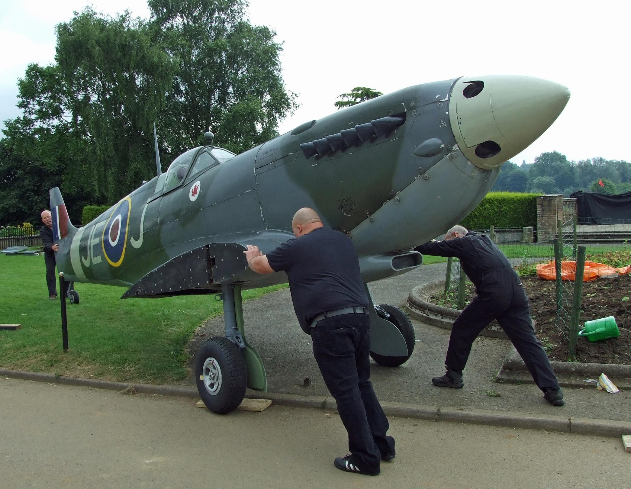The Spitfire replica contained many original parts