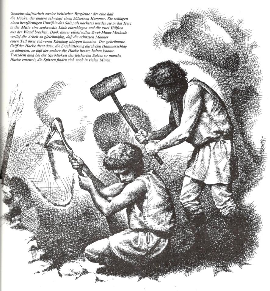 Arbeit im Salzbergwerk