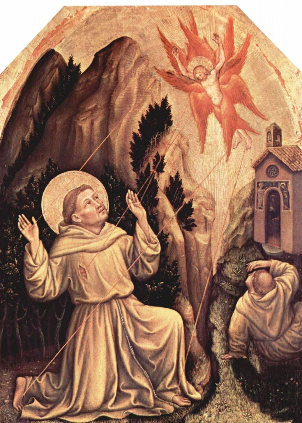 Stigmatisation - Franciscus empfängt die Wundmale des Herrn