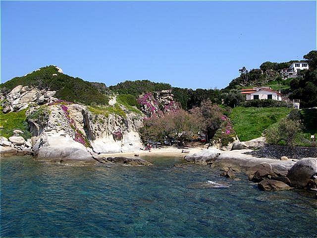 Kleine Bucht kurz vor Sant Andrea