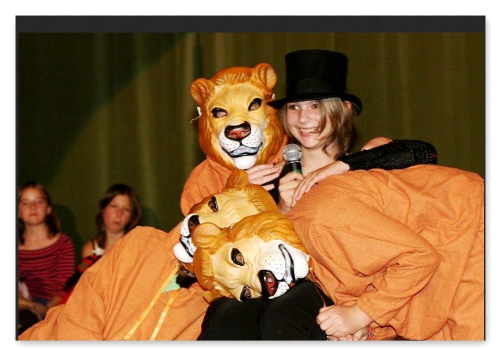 Löwen Dompteurin