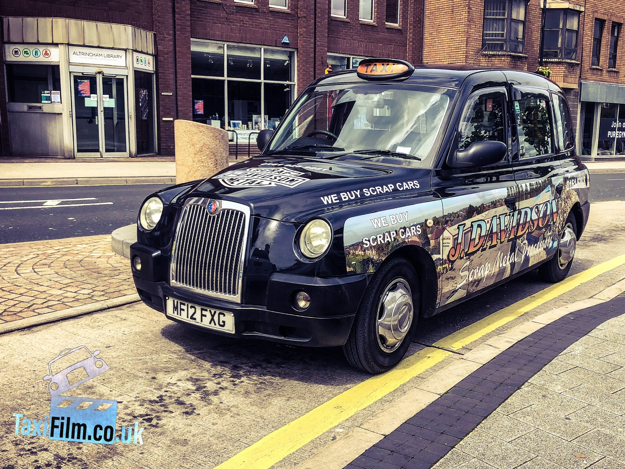 Black Tx4 Ads Taxi, 2012, Manchester ref M0006