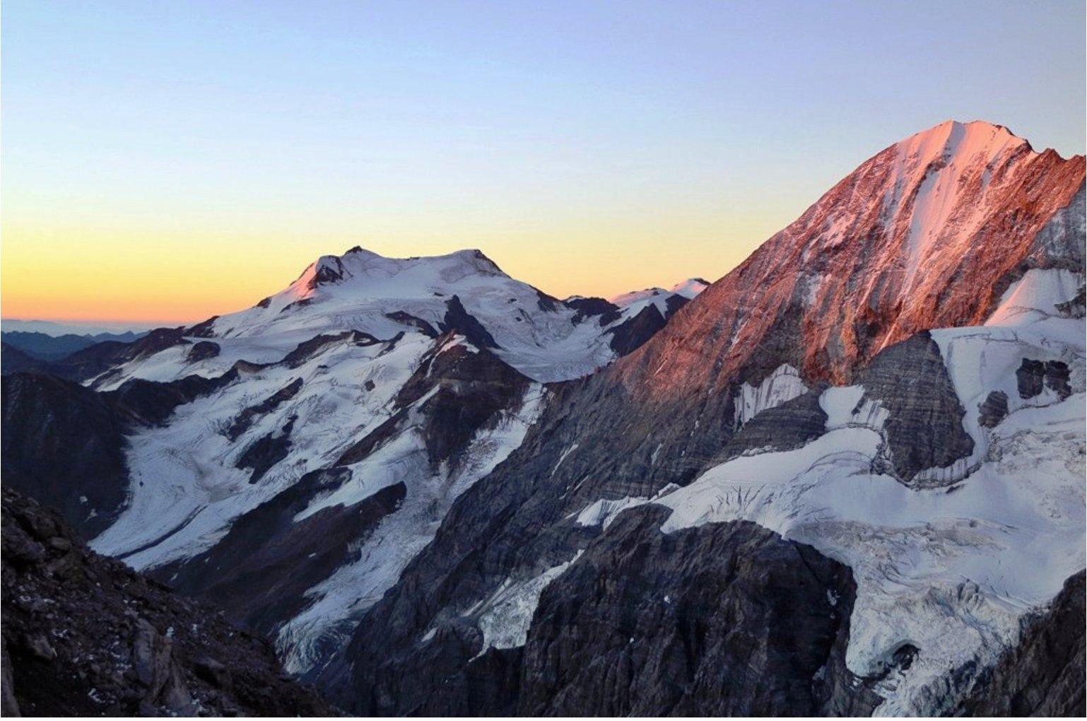 Sonnenaufgang Monte Cevedale und Königsspitze