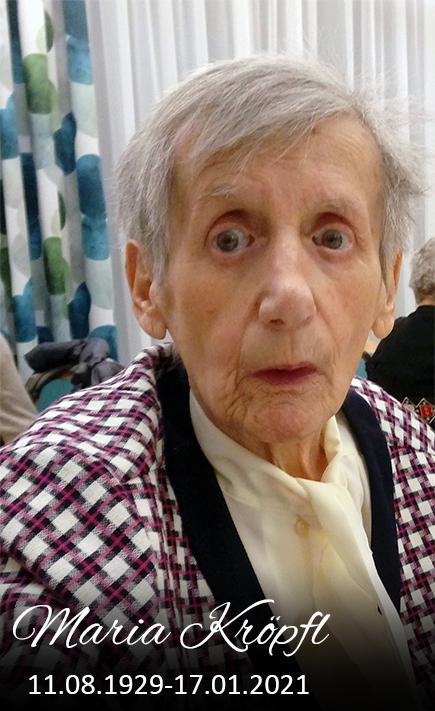 Gedenkseite Maria Kröpfl