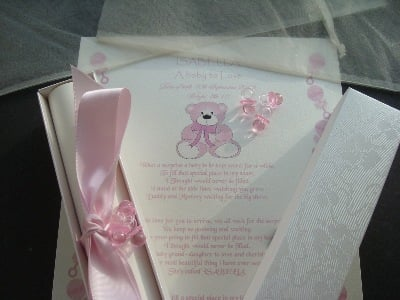 A4 pink teddy design scroll