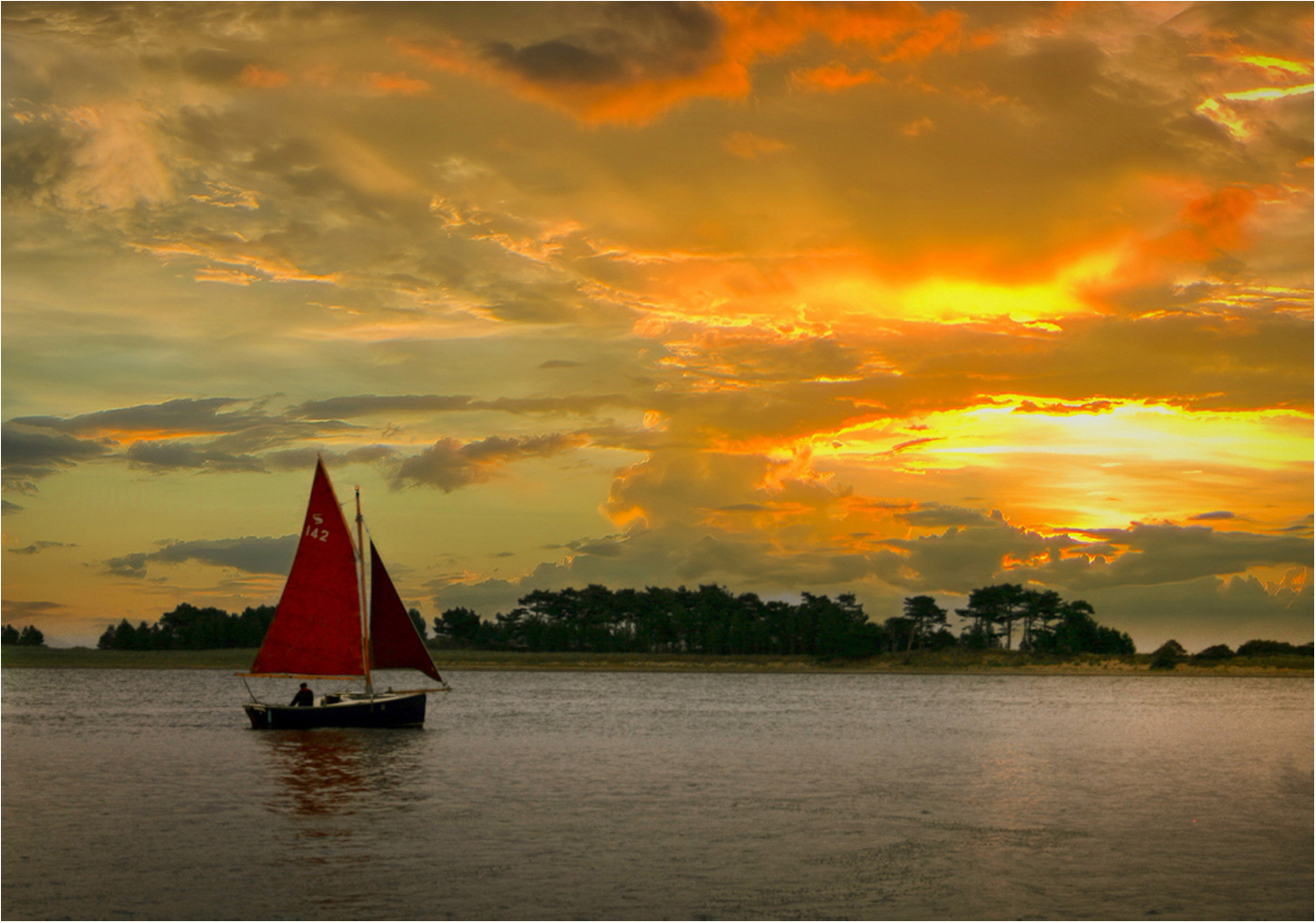 2nd Place: Sailing Home (Bill Roberts)