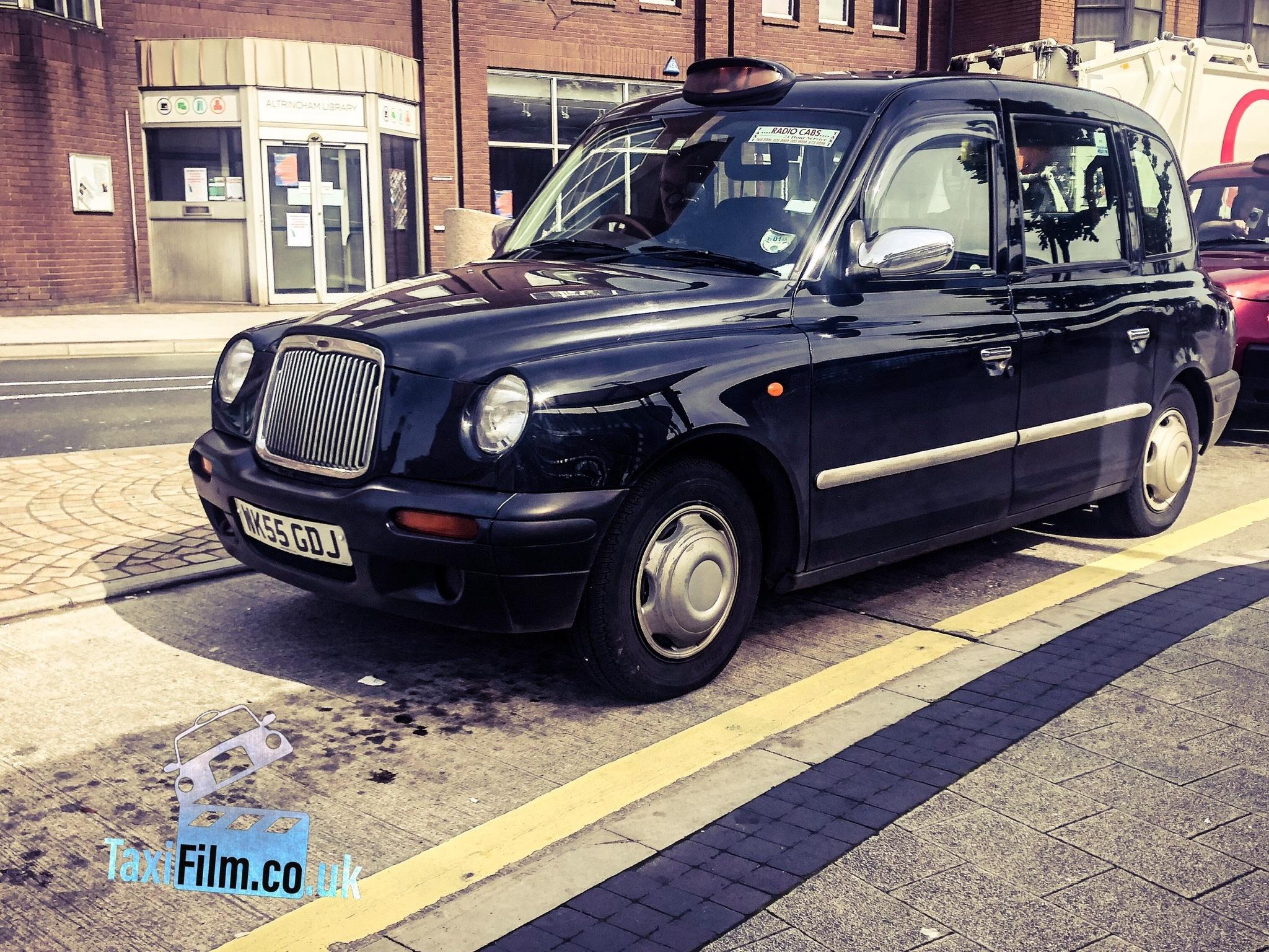 Black Tx2 taxi prop vehicle action film