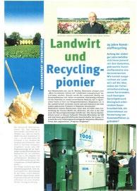 1998: Karl Blaimschein: Landwirt     und Recycling-Pionier          (Erema Recycling NEWS)