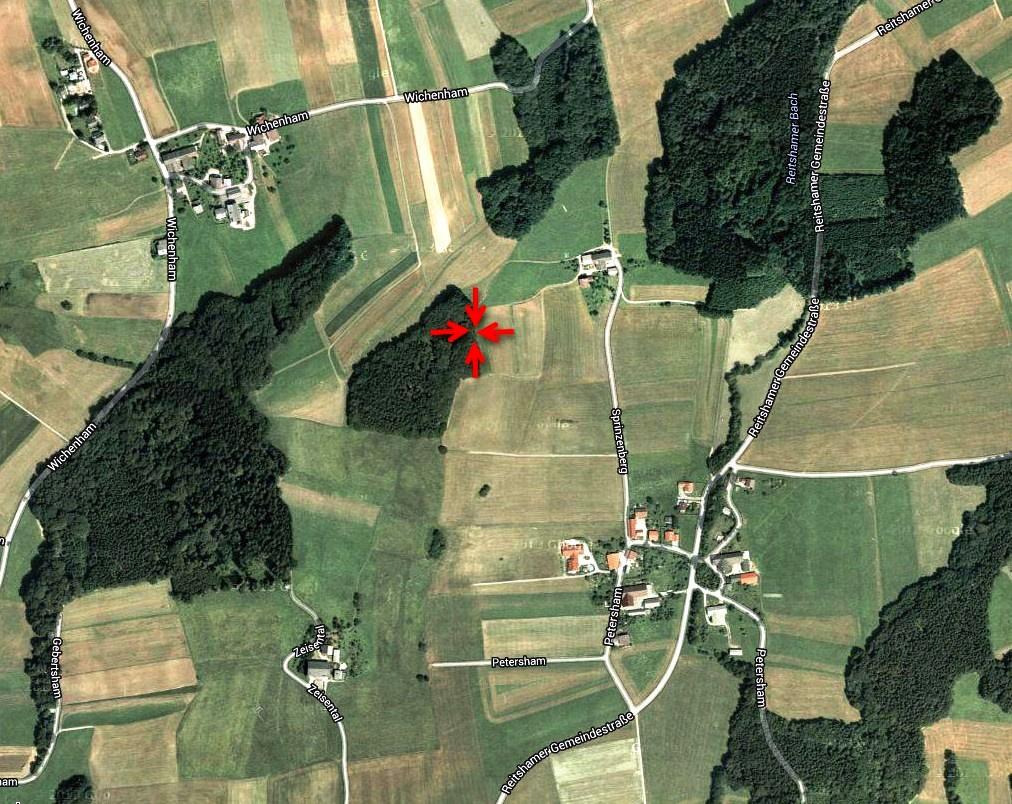Lage der Hügelgräber in Sprinzenberg