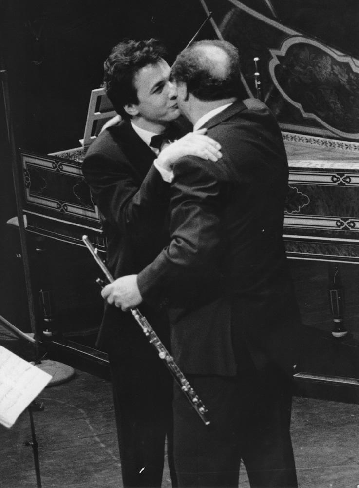 With Jean-Pierre Rampal (Théâtre du Châtelet 1987) Photo Marie-Noëlle Robert