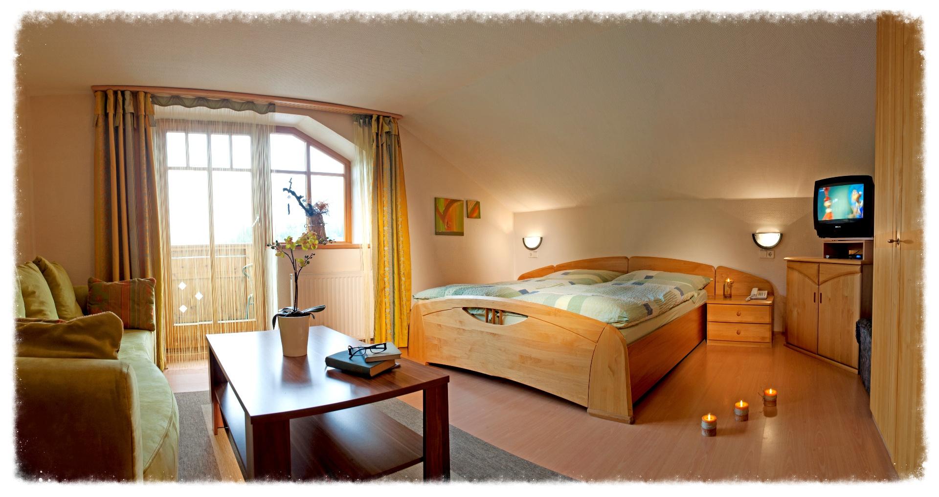 Wohn-Schlafraum Ferienwohnung für 4 - 6 Personen
