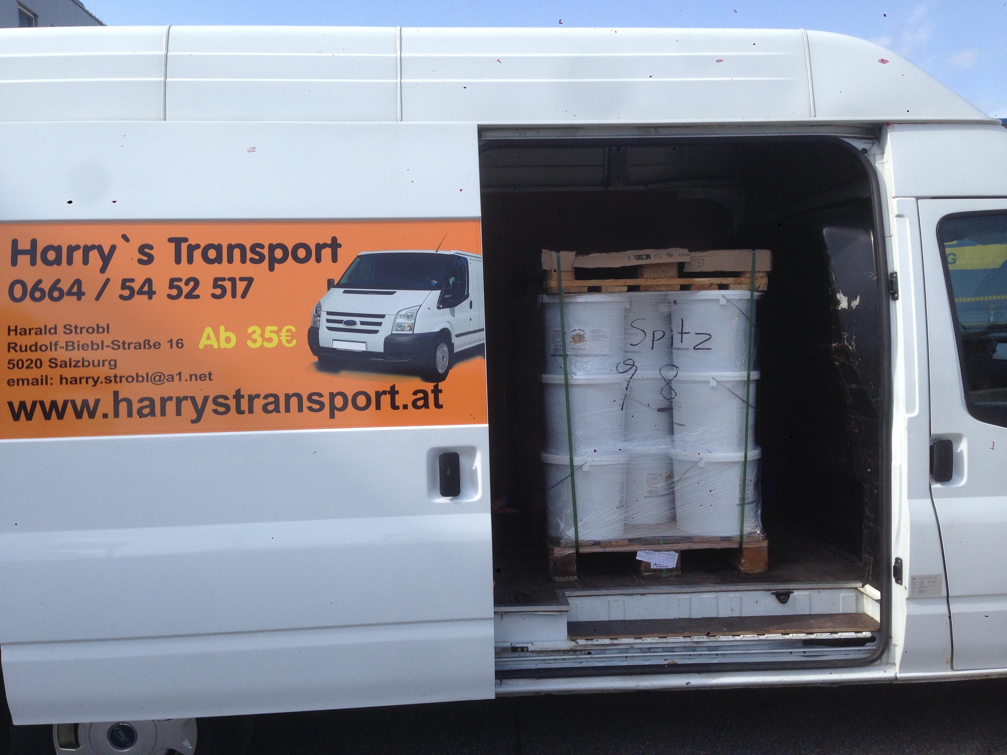 Transport zu einen Malerbetrieb
