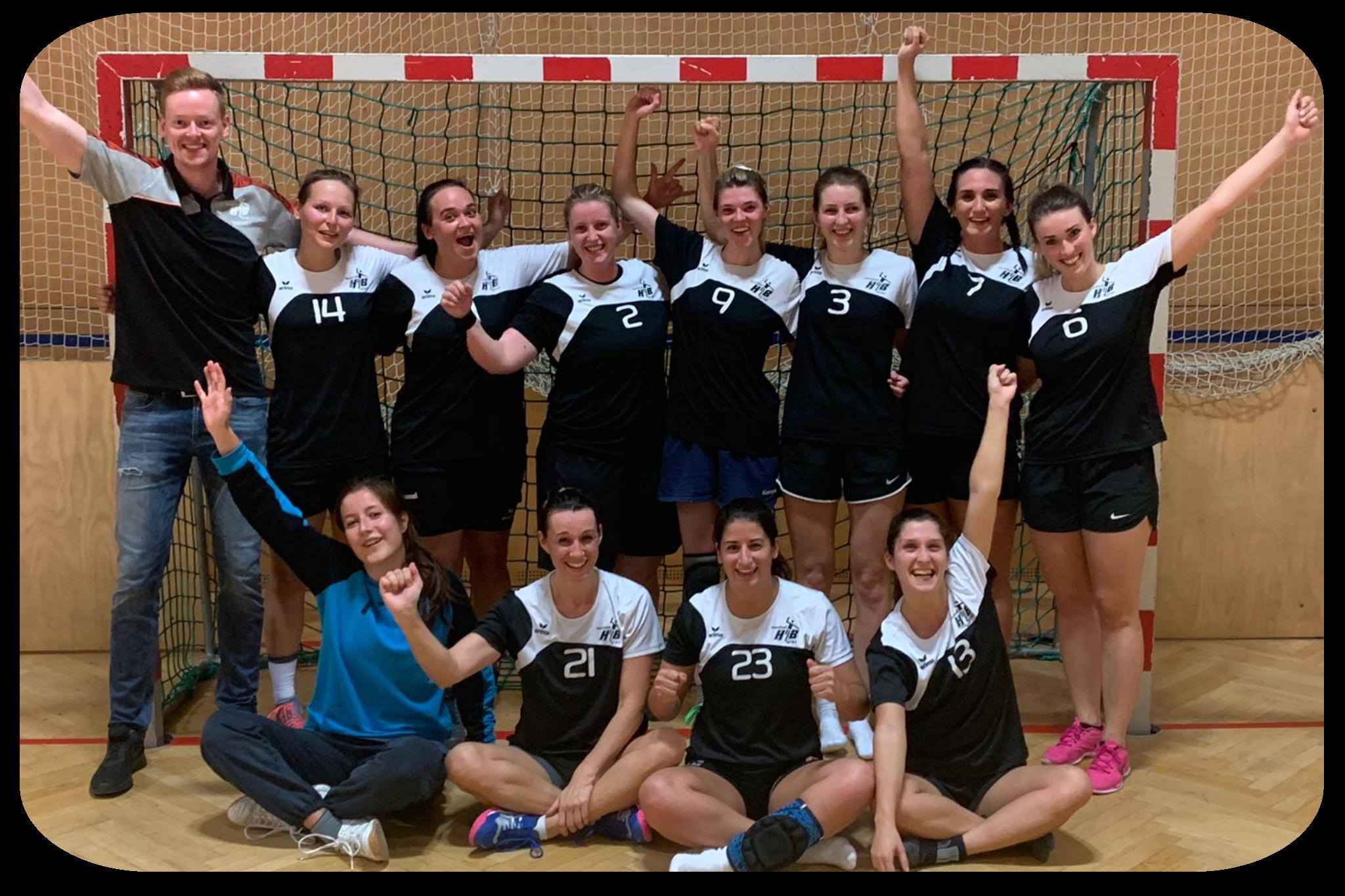 Unsere Landesliga Damen freuten sich sichtlich über den Sieg