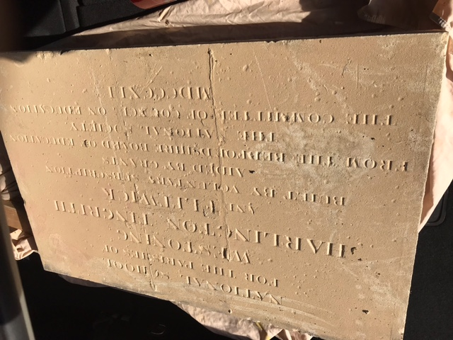 Close up of the foundation stone - 08.03.21