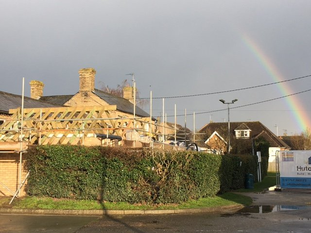 End of Week 6 The roof timbers are in place 26.03.21