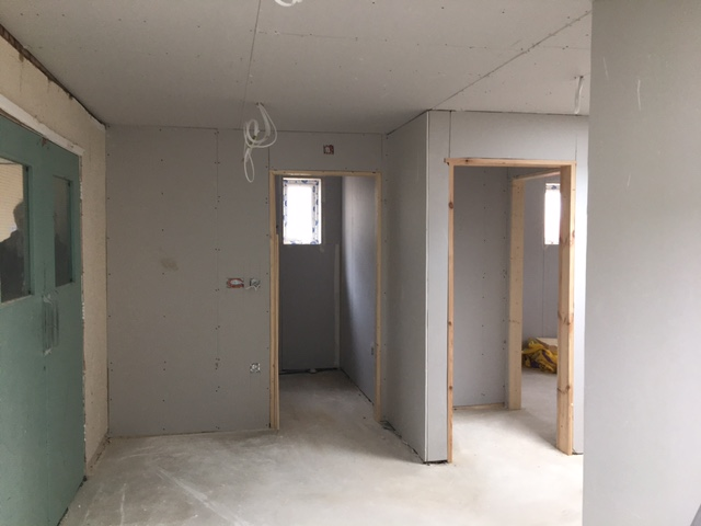 End of Week 11 Plasterboard is ready for a skim 30.04.21