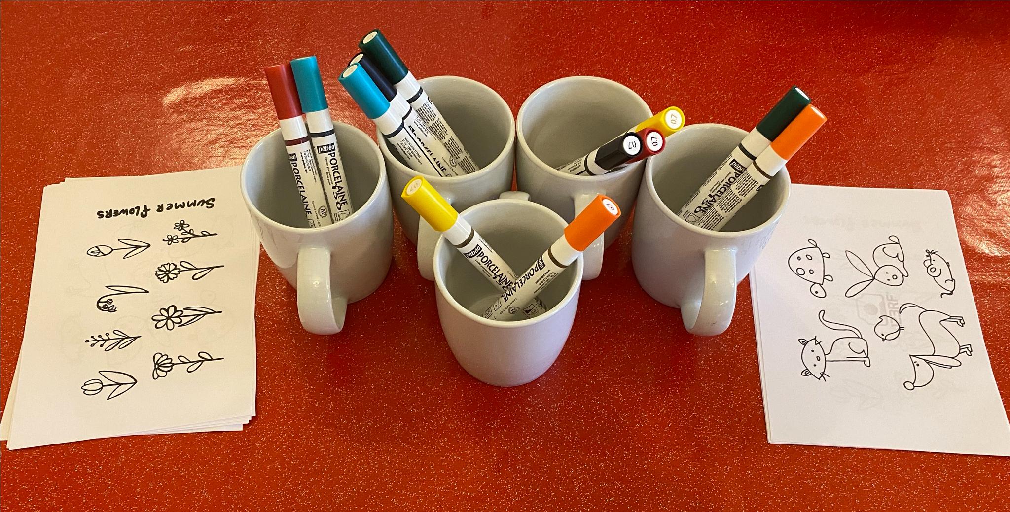 Designing Own Mugs Activity