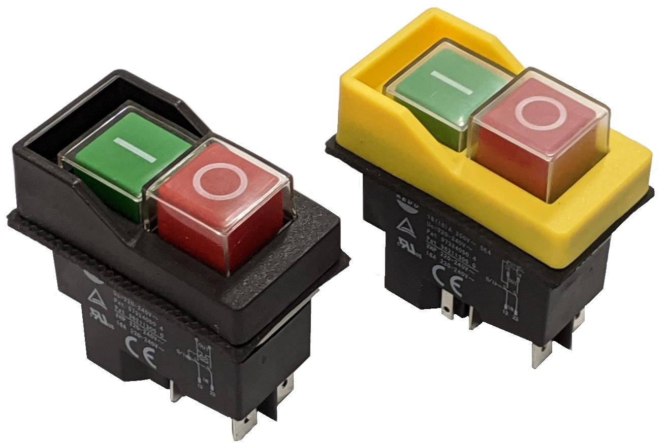 Interruptor Electromag 1P+N, 230V  4Pinos & 5Pinos