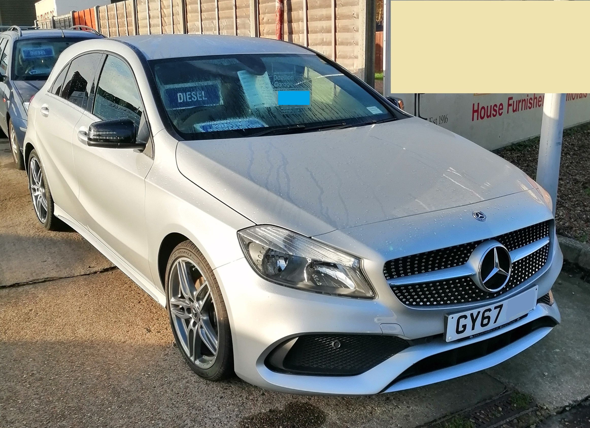 Mercedes A180D AMG Line 1461cc - Diesel 2017 / 67 39,240 miles Service History Spare Key £155 per year Road Tax £15,595