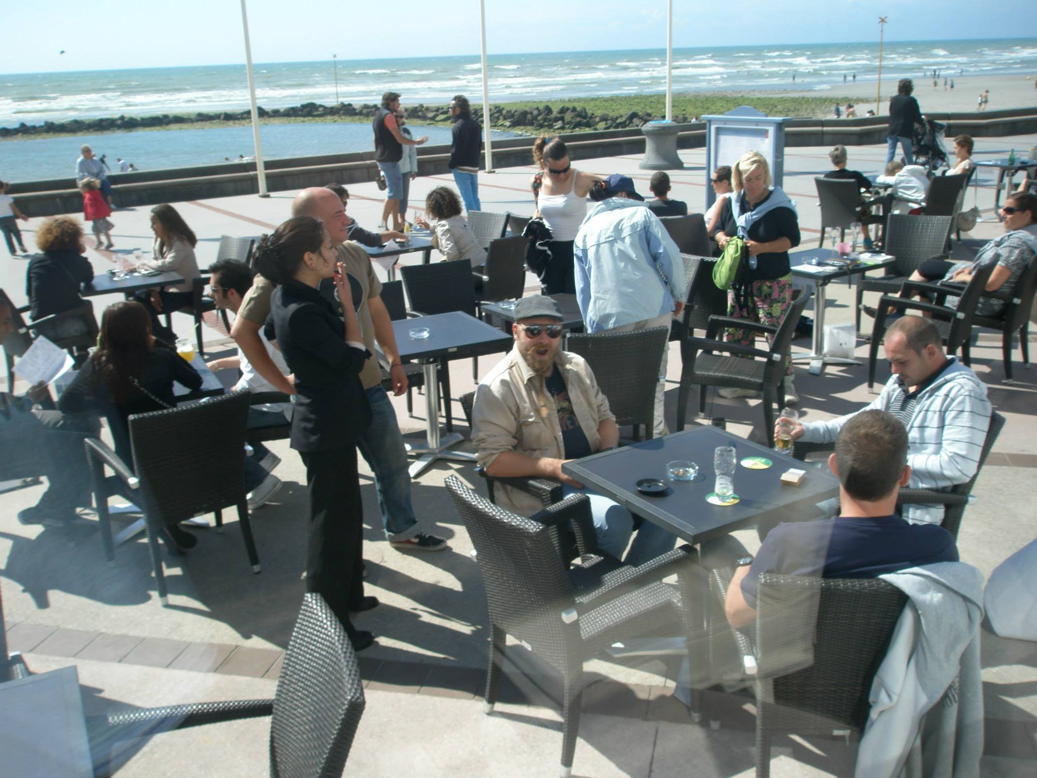 "an image from our 16h Beach aArty launch. i think it was No. "" to become popular and over 100 productions alone in Wimereux !"