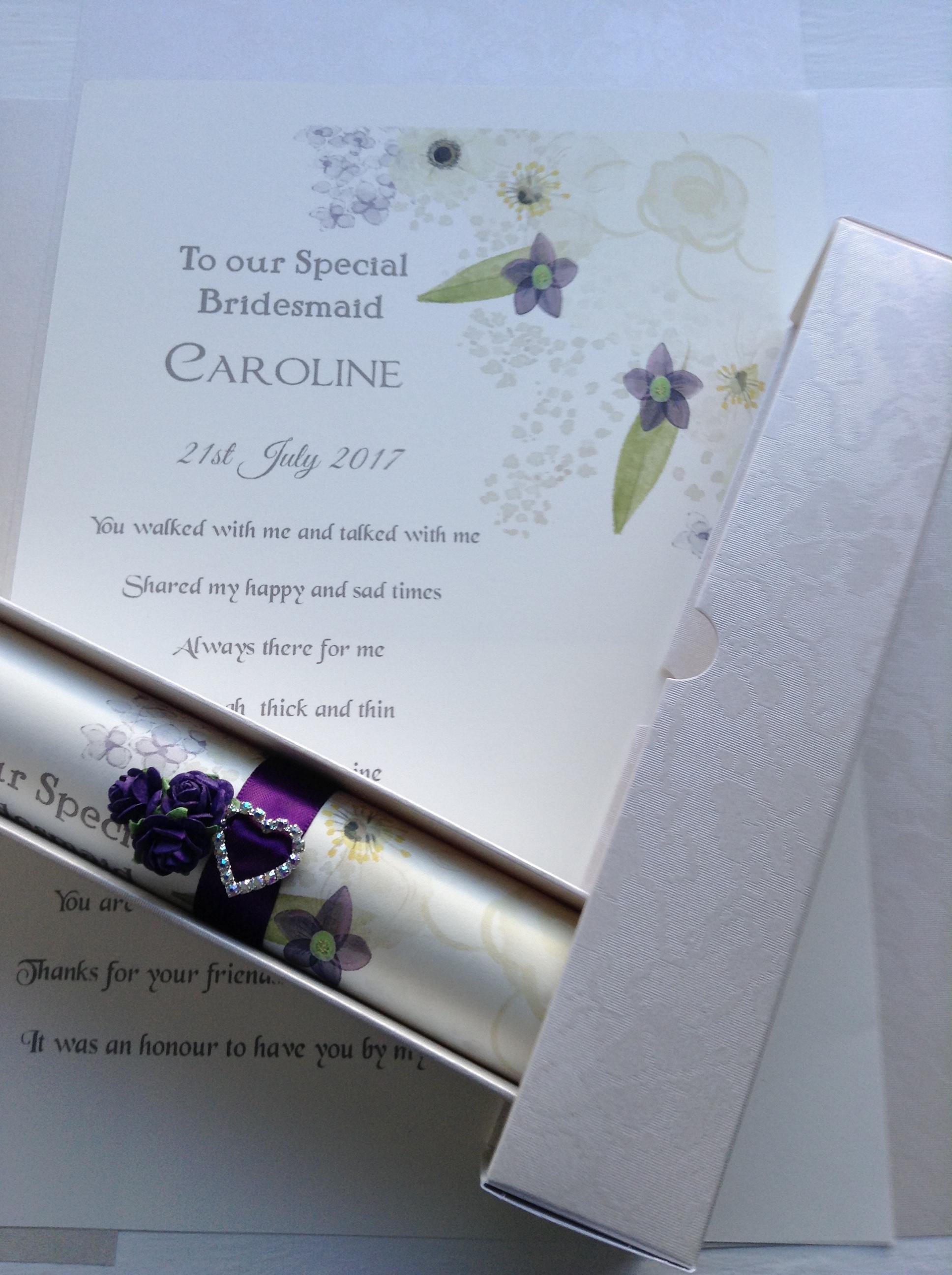 A4 scroll using purple