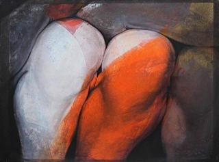 PEINTURE: les genoux oranges Etienne Gros