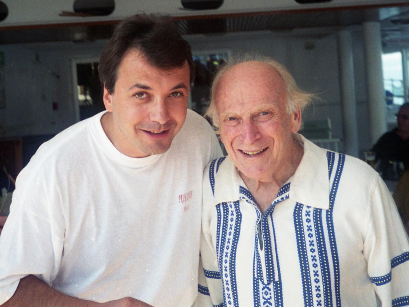 Avec Yehudi Menuhin (Athènes 1994)