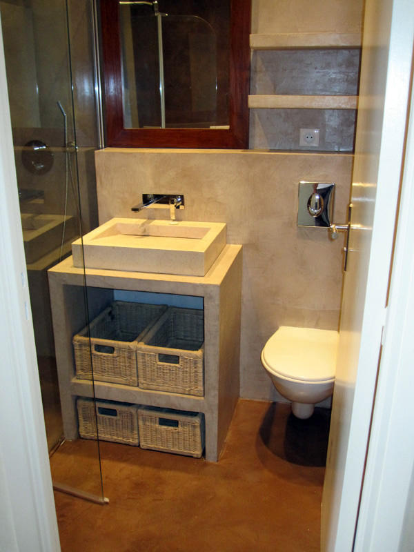 Salle de bain en béton ciré - Après