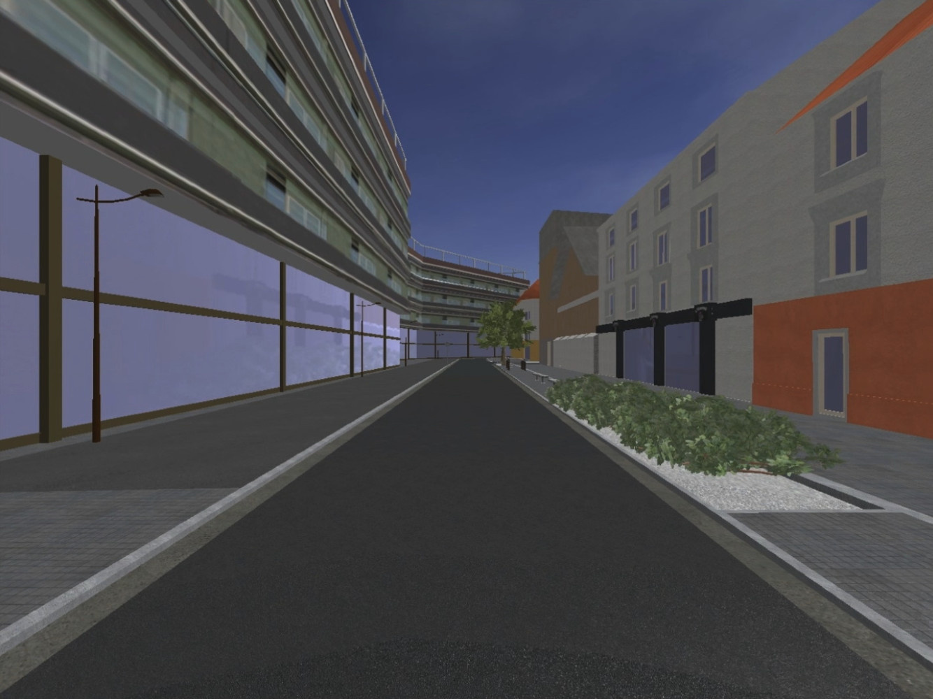 "The ""standard"" scene of virtual urban environments"