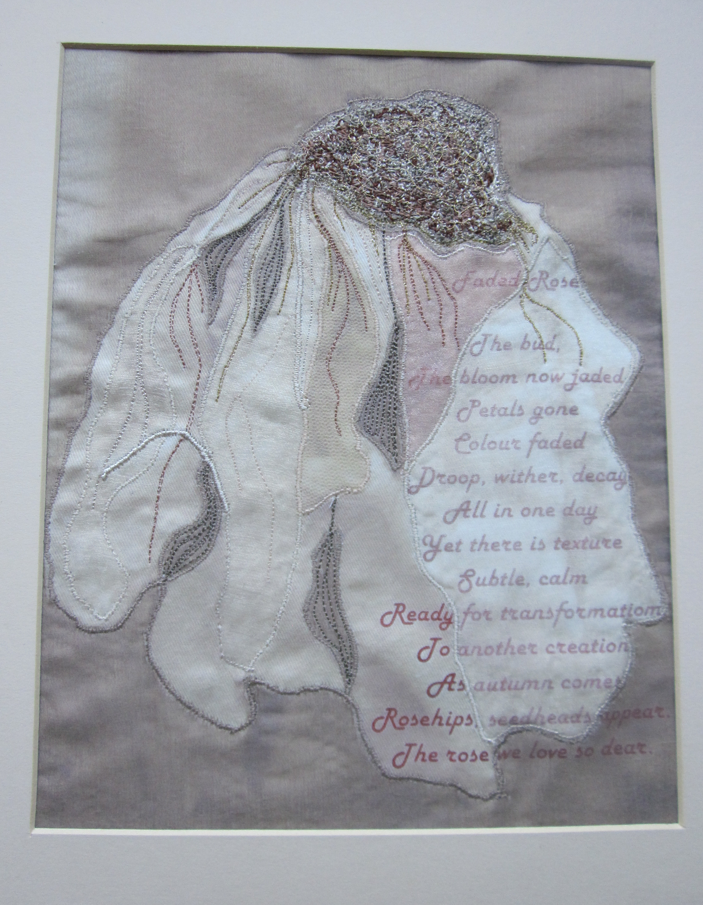 Machine Embroidery &  Poem -NFS