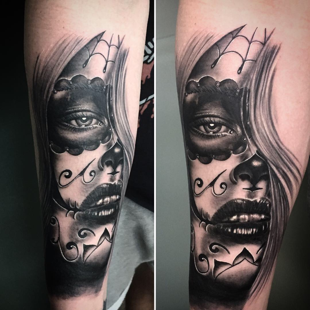 la catarina tattoo maske